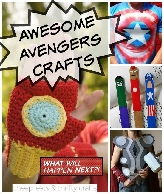 The Best Superhero Crafts to Celebrate 'Avengers: Age of Ultron' - Cheap Eats and Thrifty Crafts #superherocrafts