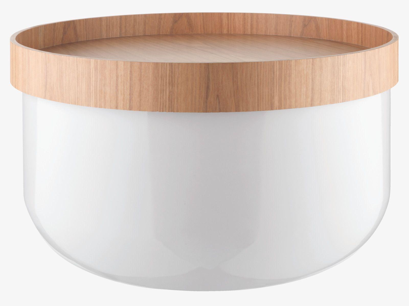BERT White storage coffee table