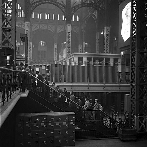 d82caa7182fe Penn Station New York 1950s Photo  Nick DeWolf `