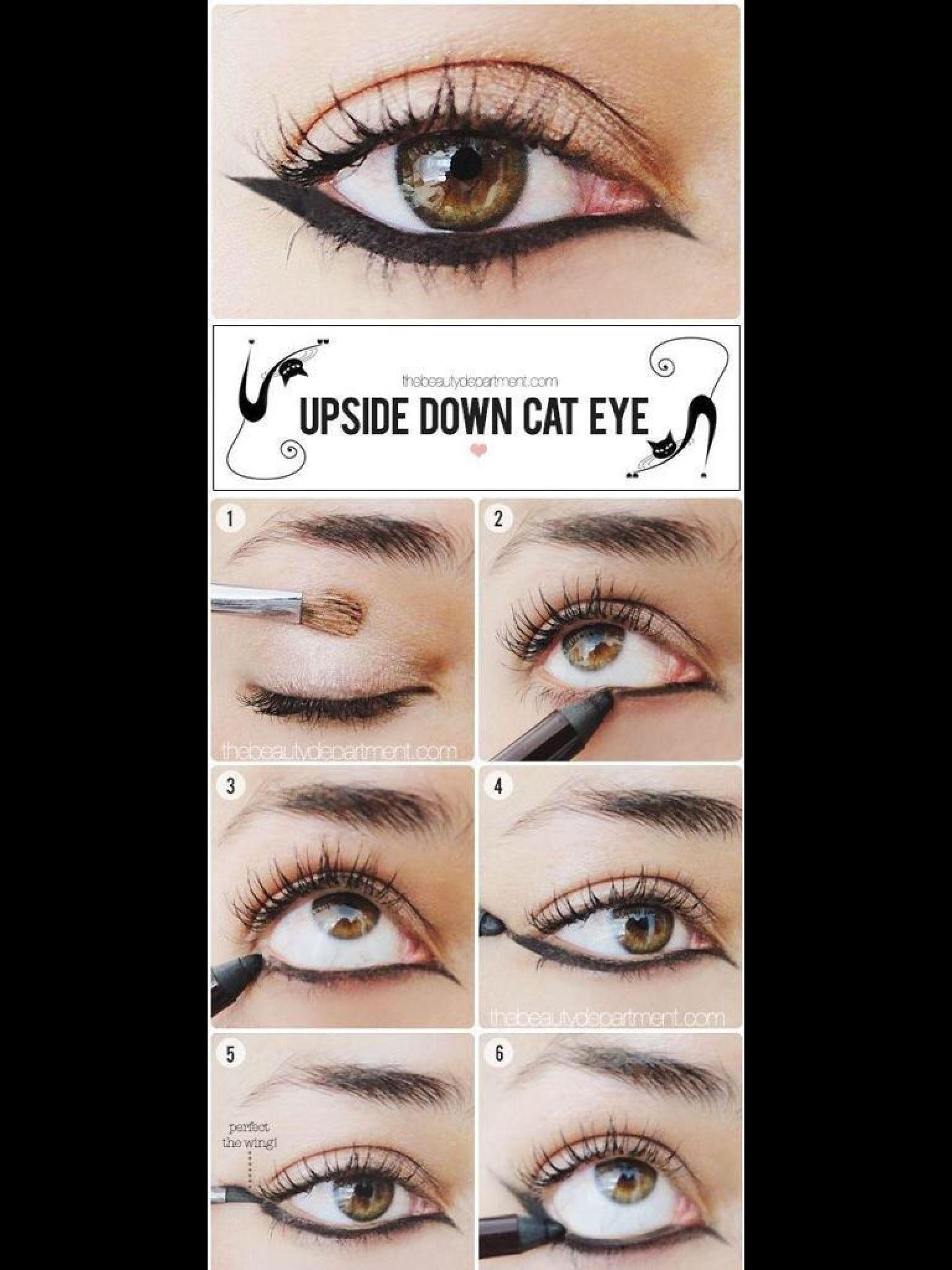 Love it! Reversed cat eye!