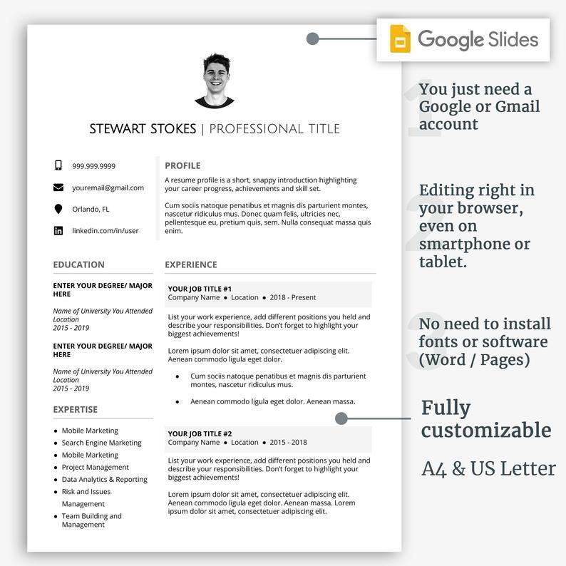 Professional Resume Template Modern Resume Template