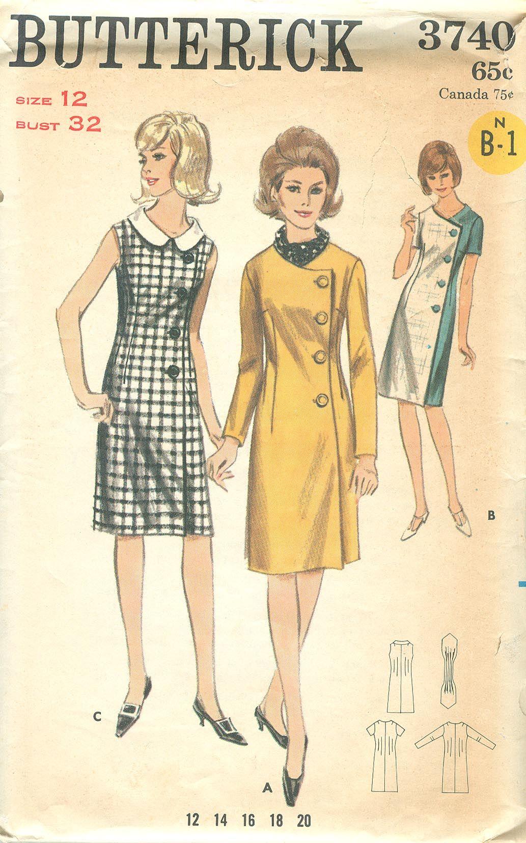 dating vintage butterick patterns