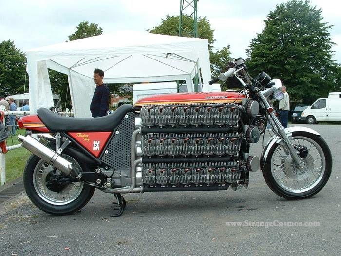 48 Cylinder 4300cc Kawasaki 2 Stroke Motorcycle Bike Engineering