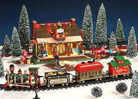 Christmas Village Train Set.Image Showing Official Lemax Christmas Village Starlight