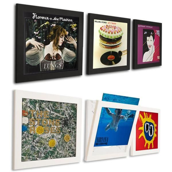 Art Vinyl Play Display Record Flip Frame Triple Pack Vinyl Record Frame Framed Records Vinyl Record Display