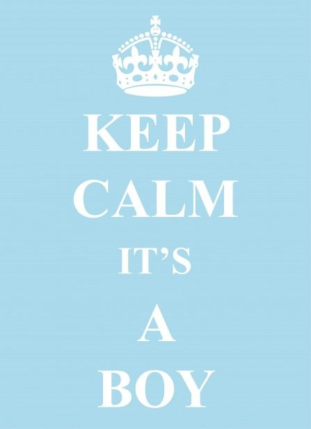 Keep Calm Its A Boy Blue Baby Boy Announcement Card For