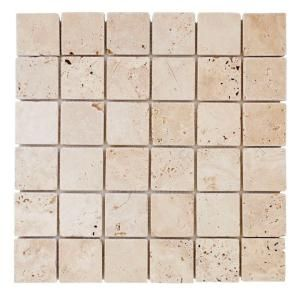 Jeffrey Court Light Travertine 12 In X 8 Mm Mosaic Floor Wall Tile