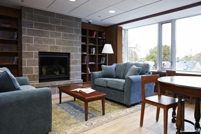 The library at Ronald McDonald House Toronto