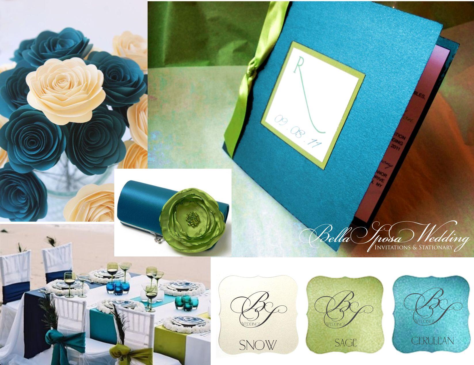 Cerulean Wedding Invitations Turquoise Wedding Invitations Wedding