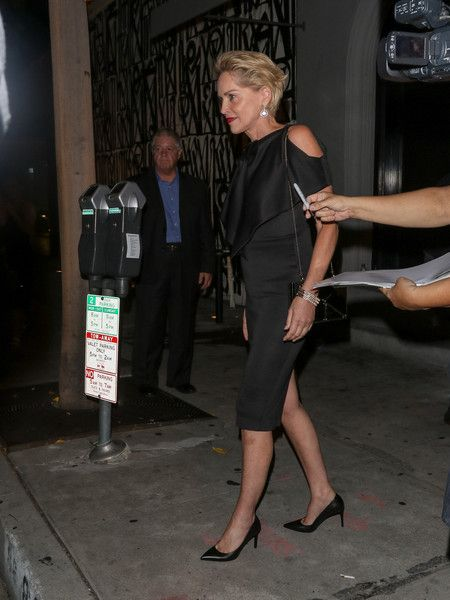 Sharon Stone Photos - Sharon Stone Leaves Craig's Restaurant - Zimbio