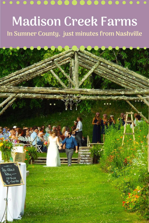 Madison Creek Farms Romantic Lighting Wedding Ceremony Sites Goodlettsville