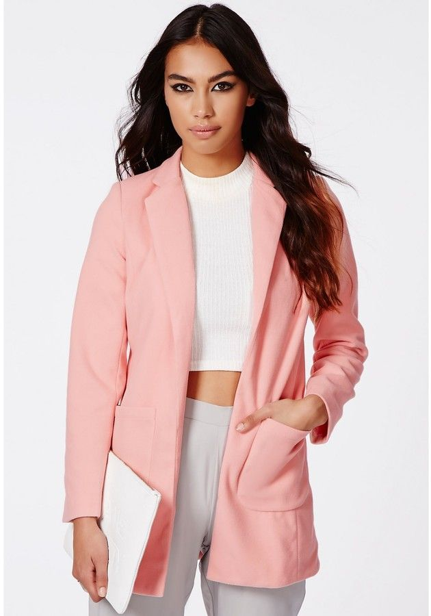 Missguided Vanessa Pink Tailored Coat on shopstyle.com