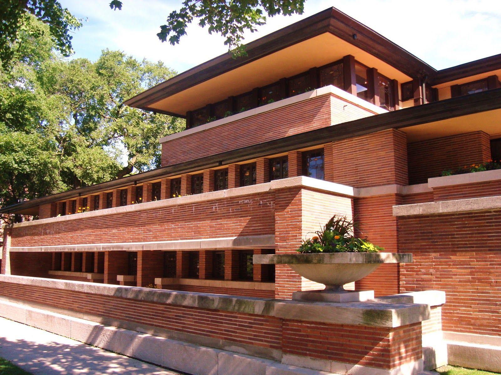 Robie house chicago il usa 1910 architect frank lloyd wright