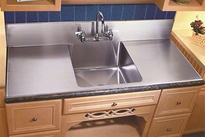 Just Mfg Stainless Steel Single Bowl Kitchen Sink With Backsplash