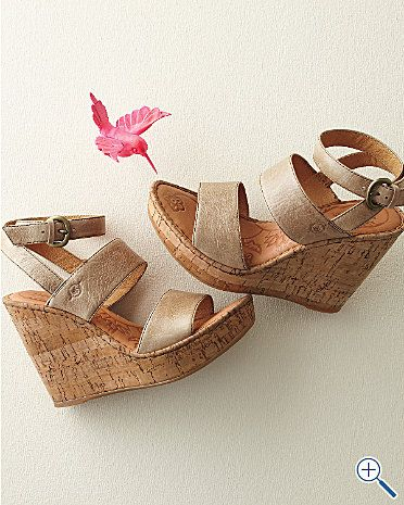 born cork wedges