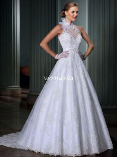 Sexy-White-Ivory-Mermaid-Bridal-Gown-Wedding-Dress-Custom-Size4-6-8-10-12-14-16