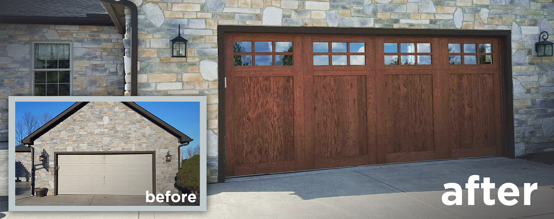 Faux Wood Garage Doors That Look Realistic New Garage Doors Deluxe Door Systems Faux Wood Garage Door Wood Garage Doors Garage Door Styles
