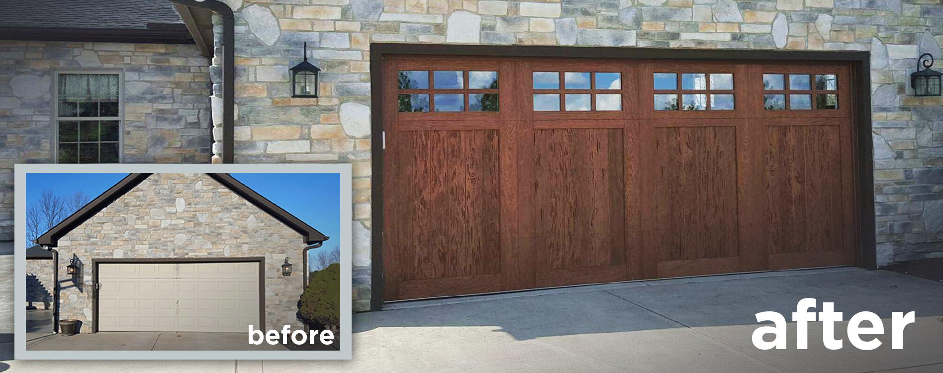 Faux Wood Garage Doors That Look Realistic Faux Wood Garage Door Garage Door Styles Wood Garage Doors
