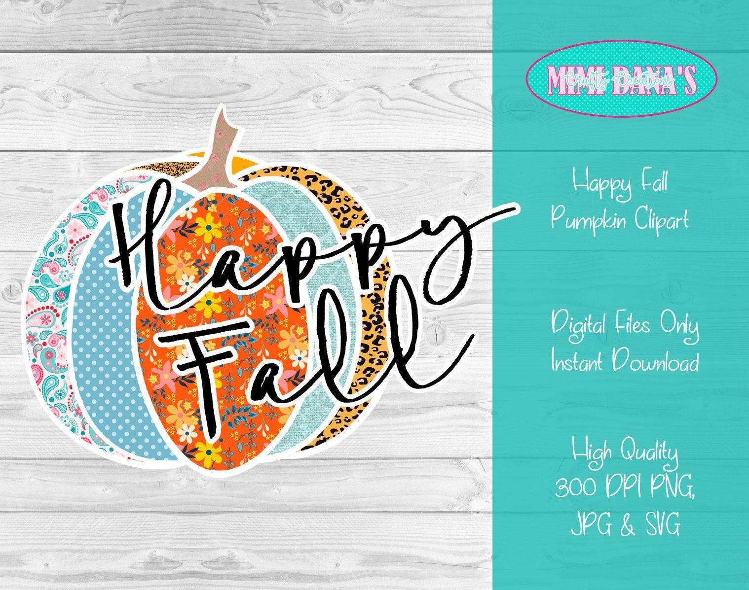 Pumpkin clipart, Happy Fall, leopard pumpkin, (Transparent