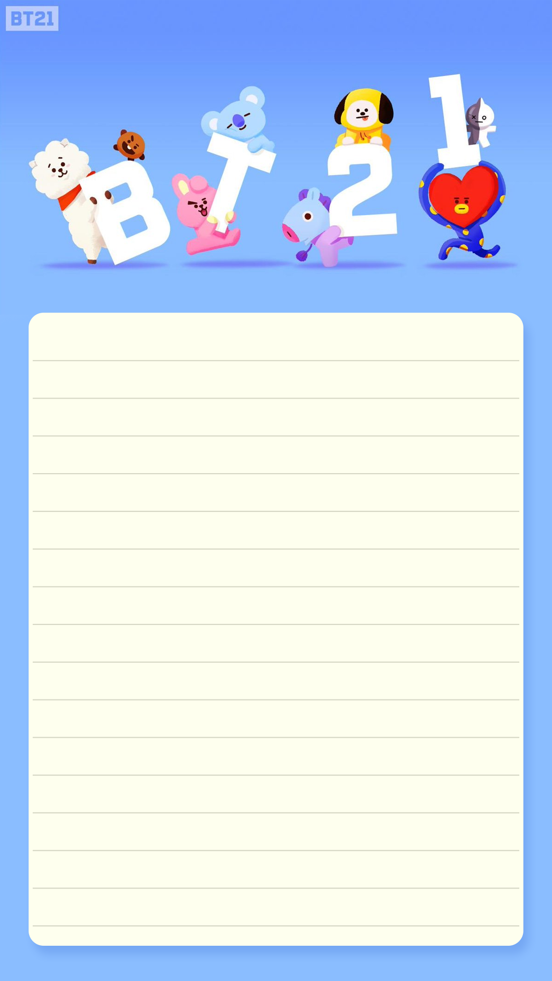 BT21 Memo Pad / BTS Notepads / K-POP / Letter Memo Pad