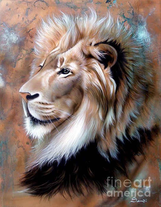 copper king lion print by sandi baker hermosos cuadros pinterest l win tiger l we und. Black Bedroom Furniture Sets. Home Design Ideas