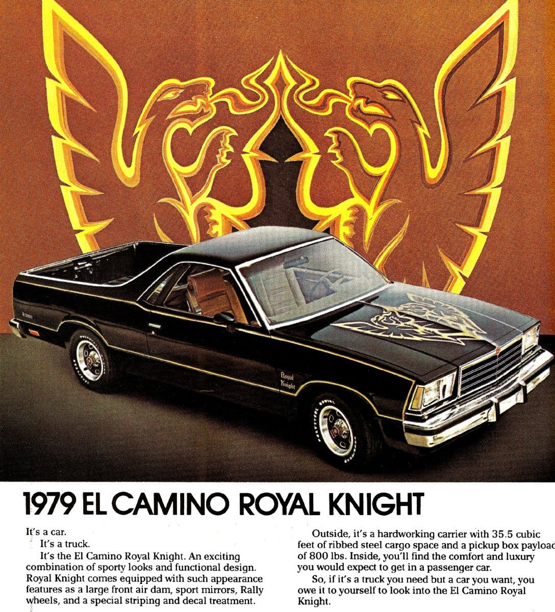 1982 Chevy EL Camino SS//Conquista//Royal Knight Brochure