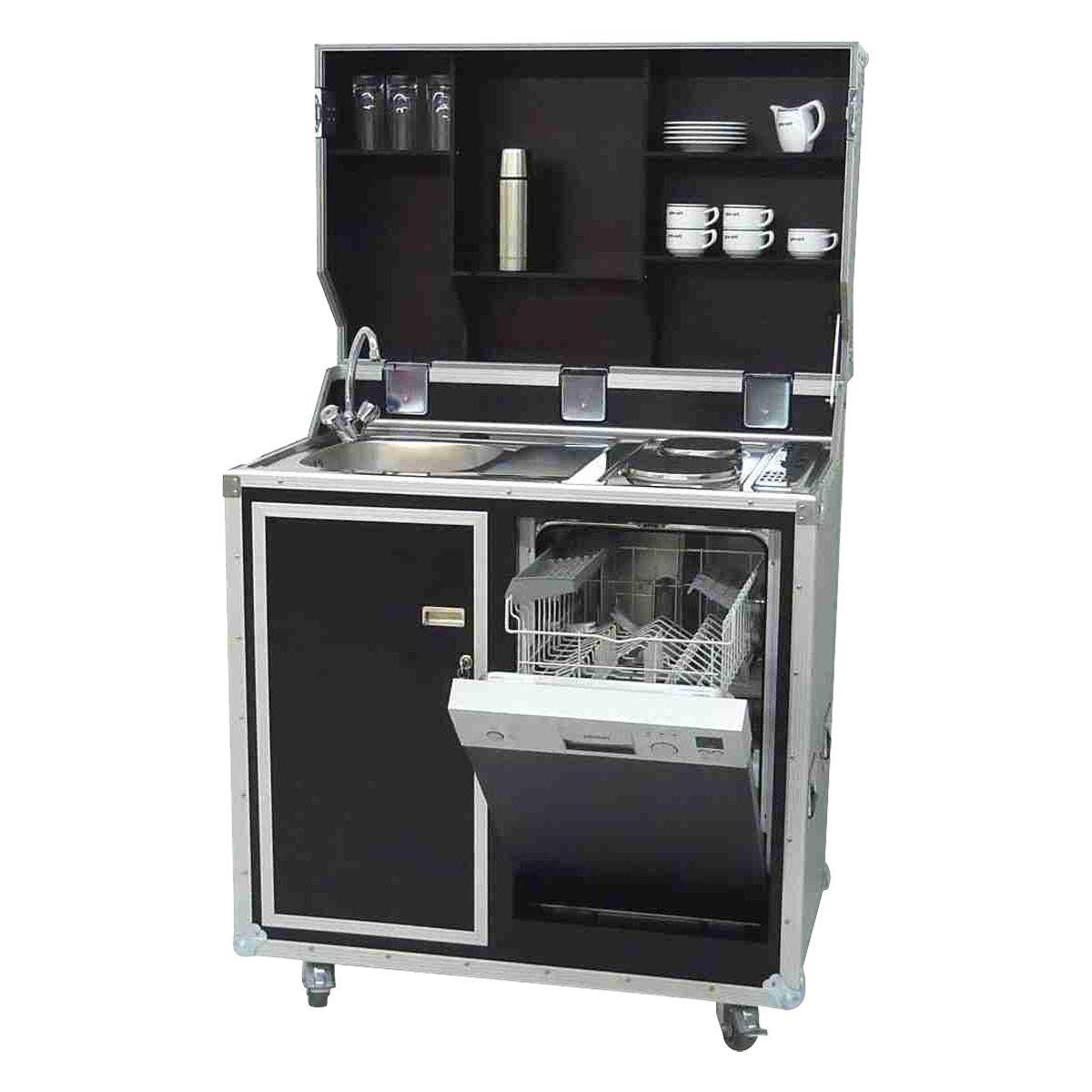 mobile Küche im Koffer inklusive Geschirrspüler, Farbe