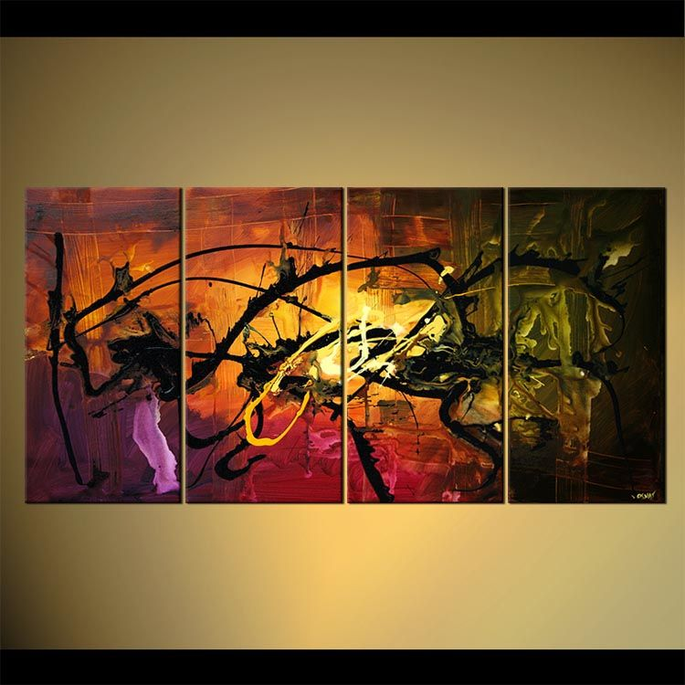 Original Abstract Art Paintings By Osnat   Home Decor Abstract Painting