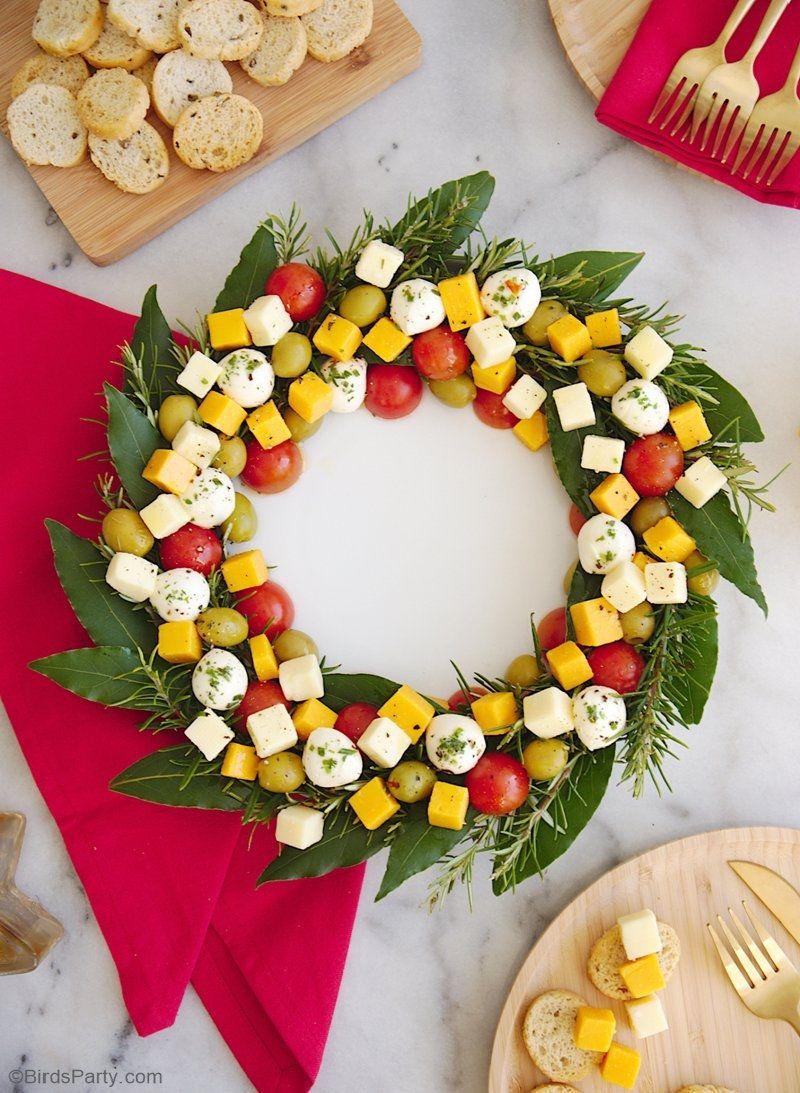 Christmas Wreath Cheese Platter Appetizer Recette Apero Noel Facile Repas Noel Facile Idee Aperitif Noel