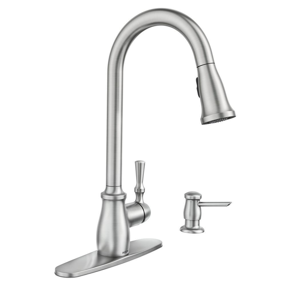 Moen Fieldstone Single Handle Pull Down Sprayer Kitchen Faucet