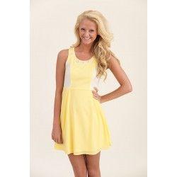 Sunday Brunch Dress-Yellow - $40.00