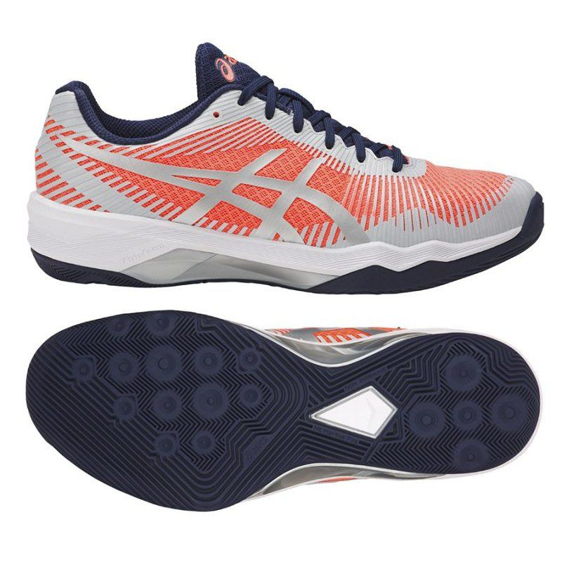 Buty Siatkarskie Asics Volley Elite Ff W B751n 0696 Pomaranczowe Biale Asics Sneakers Shoes