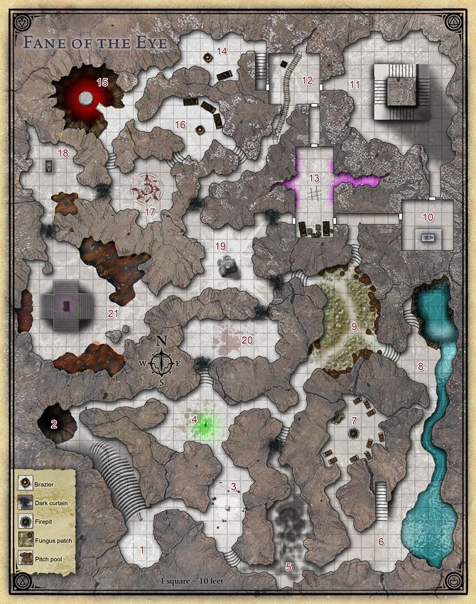 Princes of the Apocalypse   Cartography & RPG Maps 2   Dungeon maps