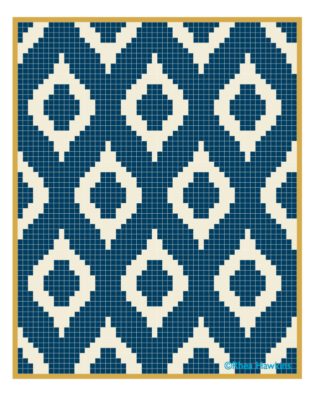 Ikat quilt pattern.   Patrones wayuu   Pinterest   Mochilas ...