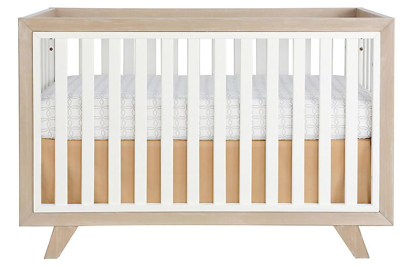 Whitney Crib Almond White Chairs Under 500 Shop By Price Furniture Category Landing Page One Kings Lane Cribs Convertible Crib Contemporary Nursery