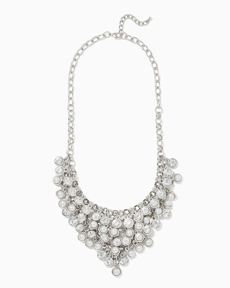charming charlie | Edie Faux Pearl Statement Necklace | UPC: 400000227252 #charmingcharlie