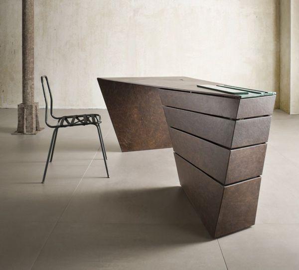 Designer Schreibtischlen schreibtisch design mit dynamischen formen büro einrichtung