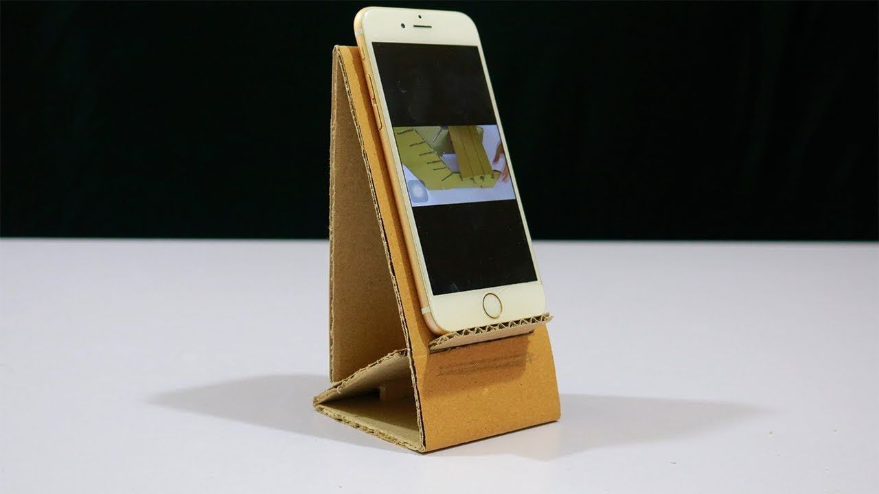 How To Make A Mobile Phone Stand Out Of Cardboard Diy Cardboard
