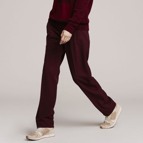 Pinces A inspiration Lacoste Bordeaux Pantalon Clickndress Cwpaq5xzz
