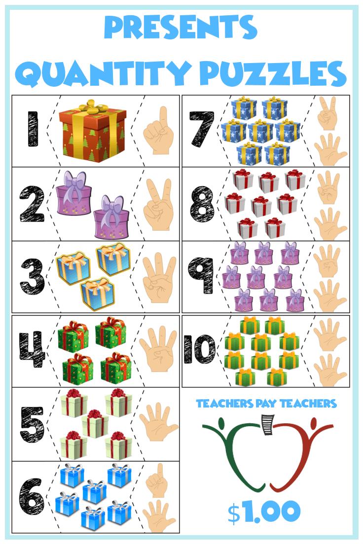 "Presents Quantity Puzzles 110 ""Show me fingers"