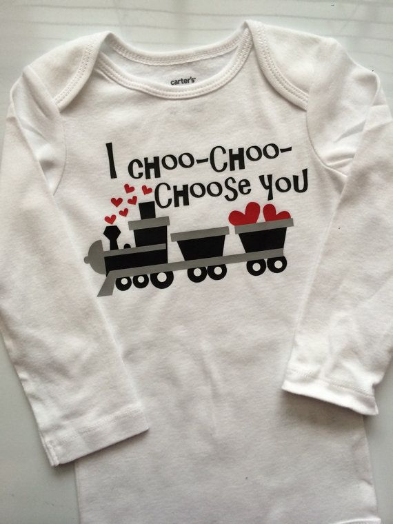 ad22be2d70ab Baby boy Toddler Boy Valentines Outfit -Valentine s choo choo train ...