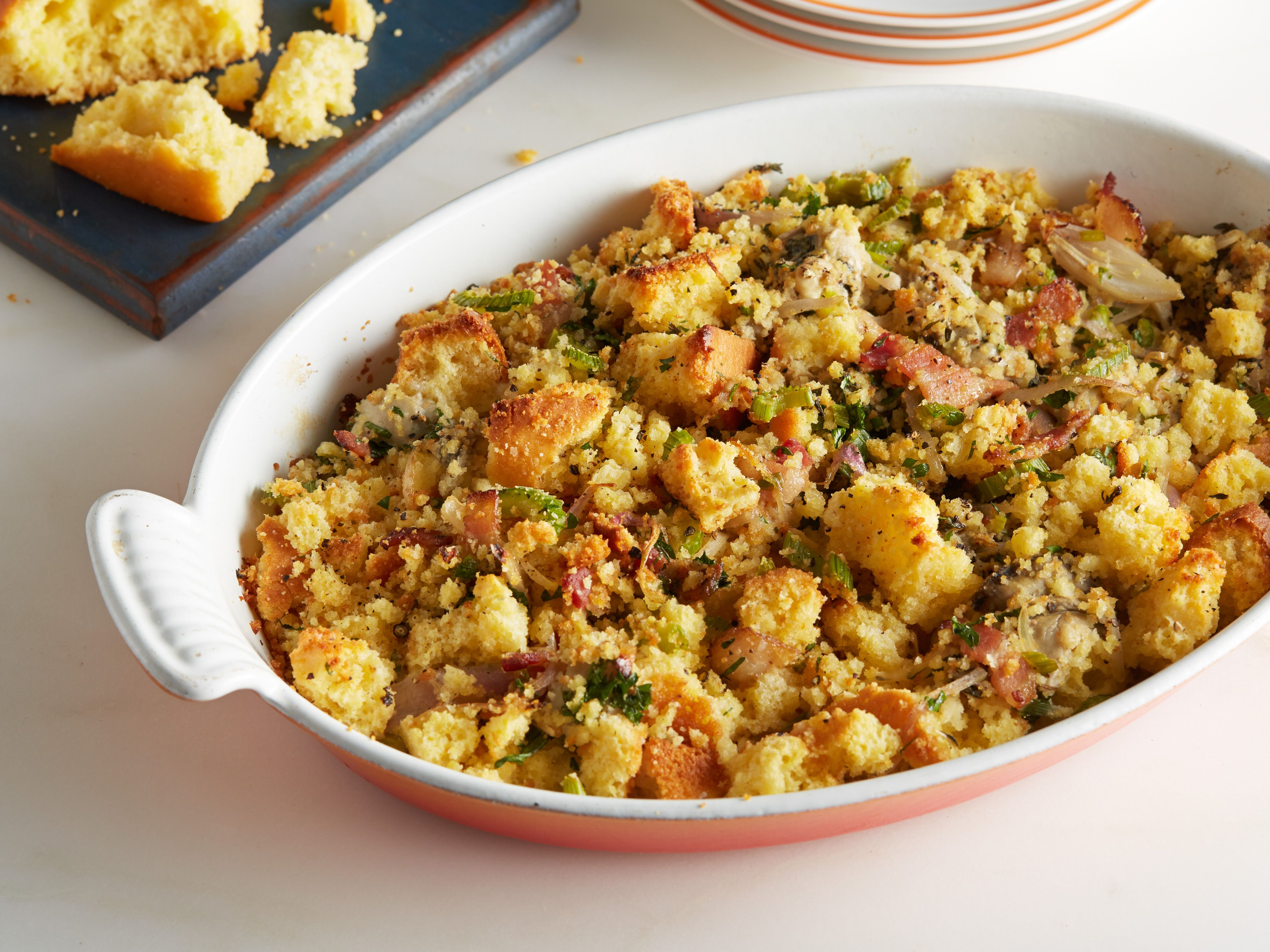 Oyster stuffing recipe stuffing recipes oysters and bacon forumfinder Choice Image