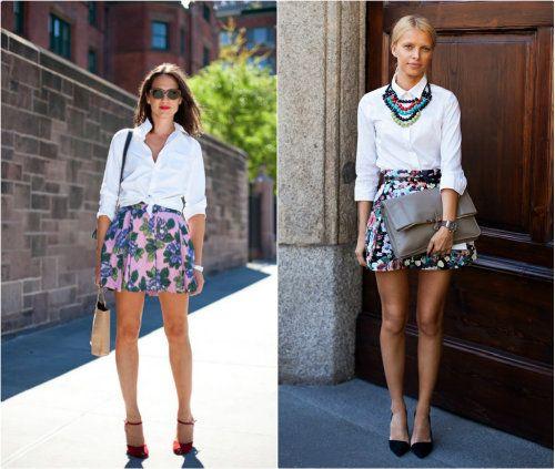 classic white shirt   skirt | From the Blog | Pinterest | Classic ...