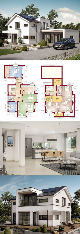Satteldach Haus Mit Buro Anbau Einfamilienhaus Concept M 166 Bien