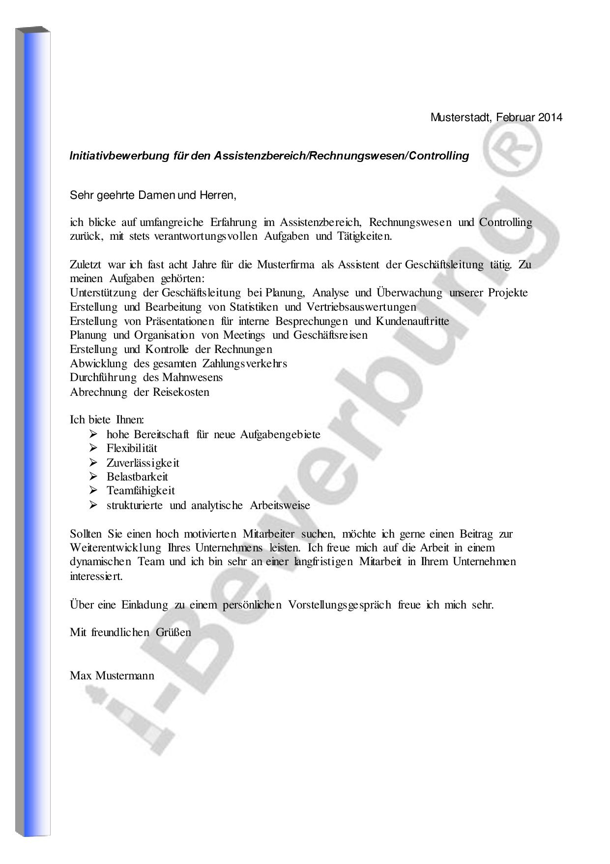 Das Anschreiben zur i-Bewerbung - Vorlage für die Formulierung Writing  Proposals, Resume,