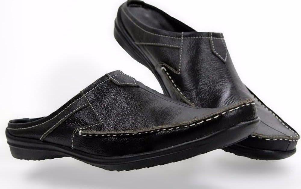Hemat Sepatu Sandal Slip On Pria Bustong Kulit Asli Moccasin Kode