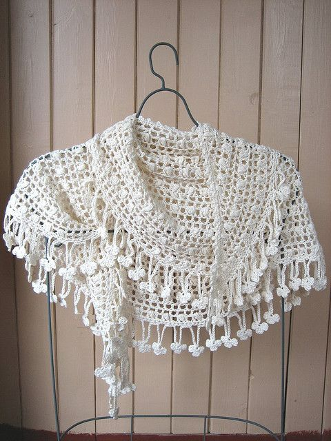 Crescent Moon Shawl 2 by yarn jungle, via Flickr | Crocheted Scarves ...