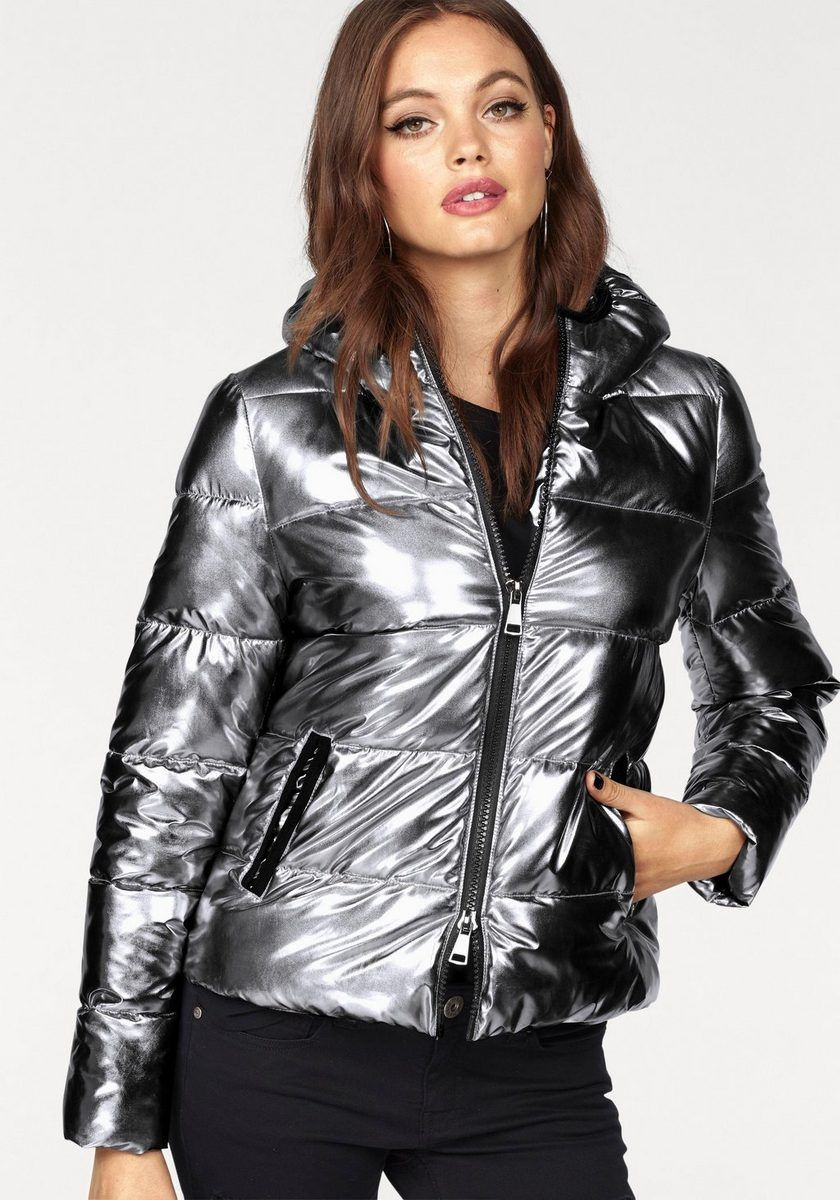 a9e30b509f87 Melrose Steppjacke im Metallic Look   Puffy Cloth   Jackets, Coat ...
