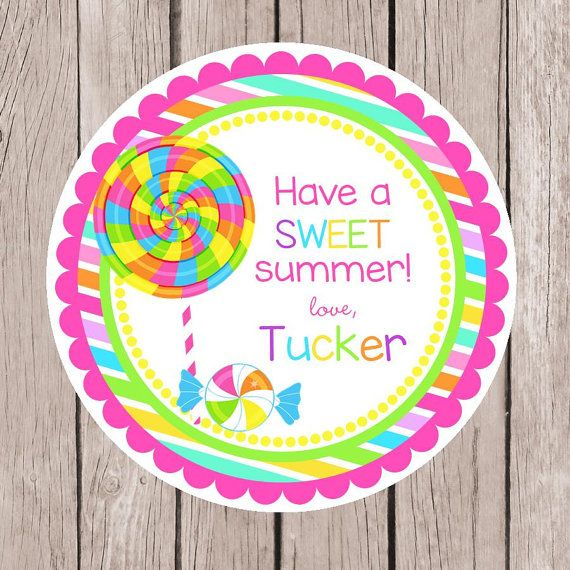 picture relating to Have a Sweet Summer Printable named PRINTABLE Incorporate a Lovable Summer months Tags / Custom made by way of