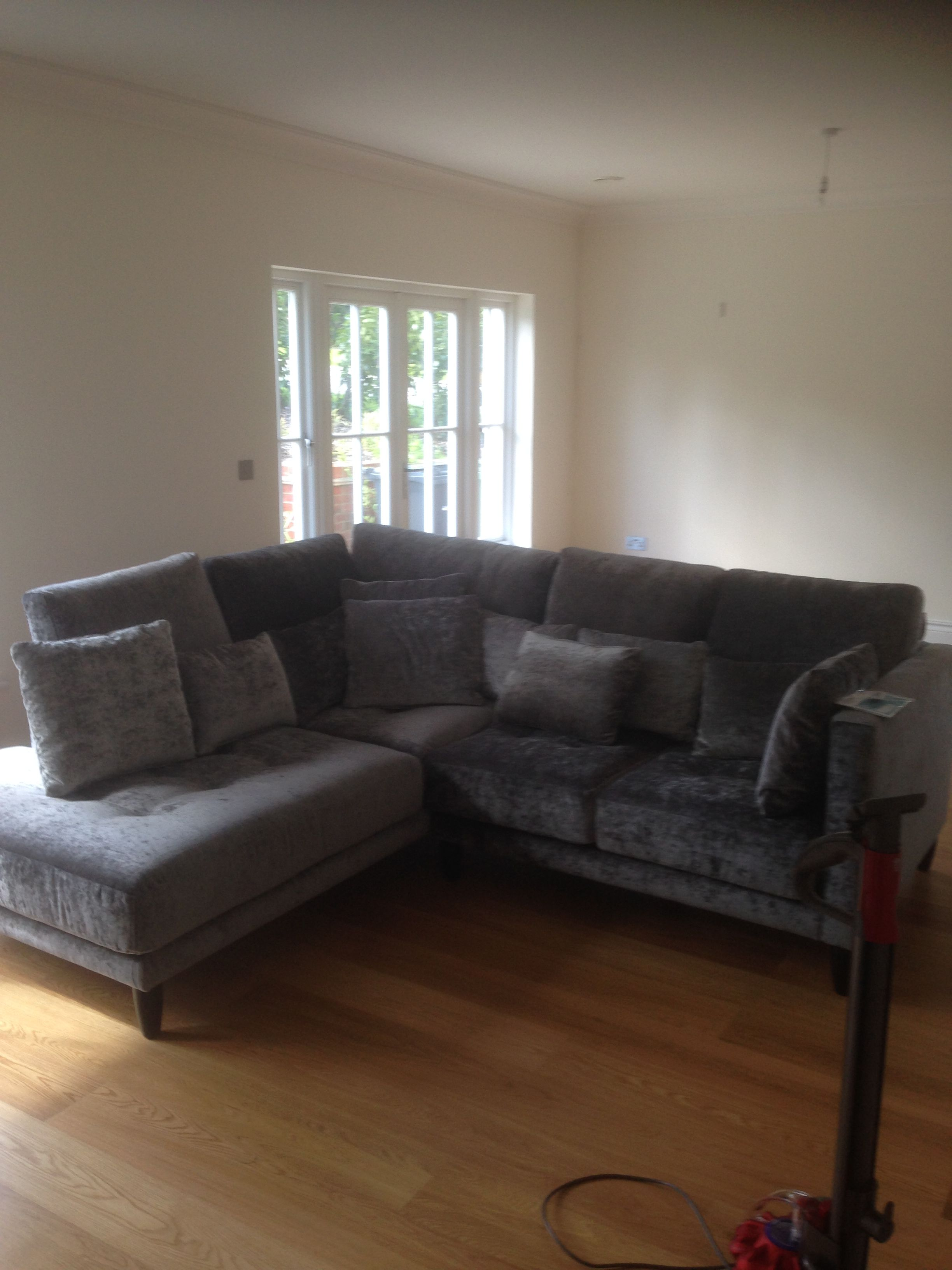 Exceptional Ole Left Hand Facing Square Chaise And 2 Seat Sofa. Very Deep At 105 Cm